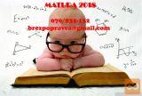 Inštrukcije matematike za OŠ in SŠ