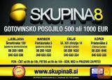 Nudimo gotovinska posojila v višini 500 ali 1000 EUR