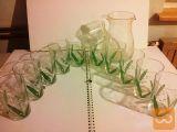 10 kozarcev zvončki + vrč za vodo nerabljeno