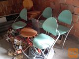 stoli dva kom  dva stola in mizica skupaj en kom.