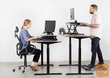 Dvižna stoječa /sedeča električna miza za manj bolečin