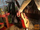 Električna gitara sa futrolom i stalkom